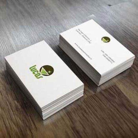 Quatio - studio grafico Torino - ha realizzato i biglietti da visita per ristorante e bar Lucas