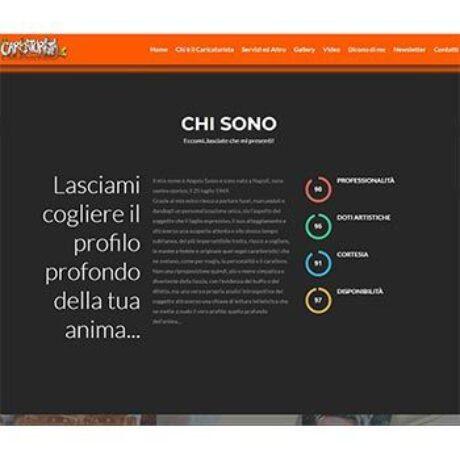 Quatio - agenzia web torino - Realizzazione sito web torino caricaturista