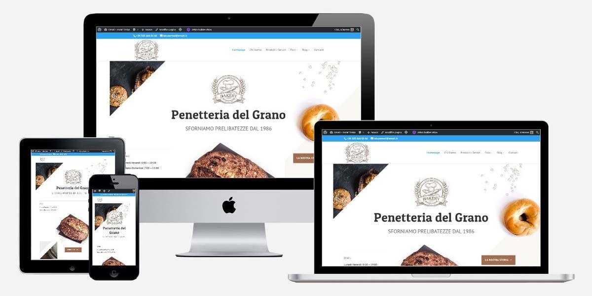 Soluzione sito web panetteria torino